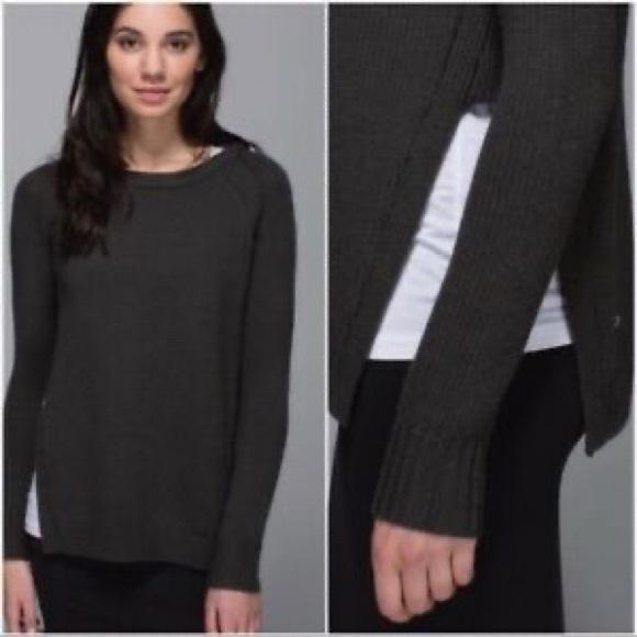 Lululemon Yin to You Knot Sweater Black Size Small
